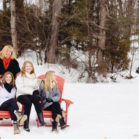 candid girls winter portraits at the cottage