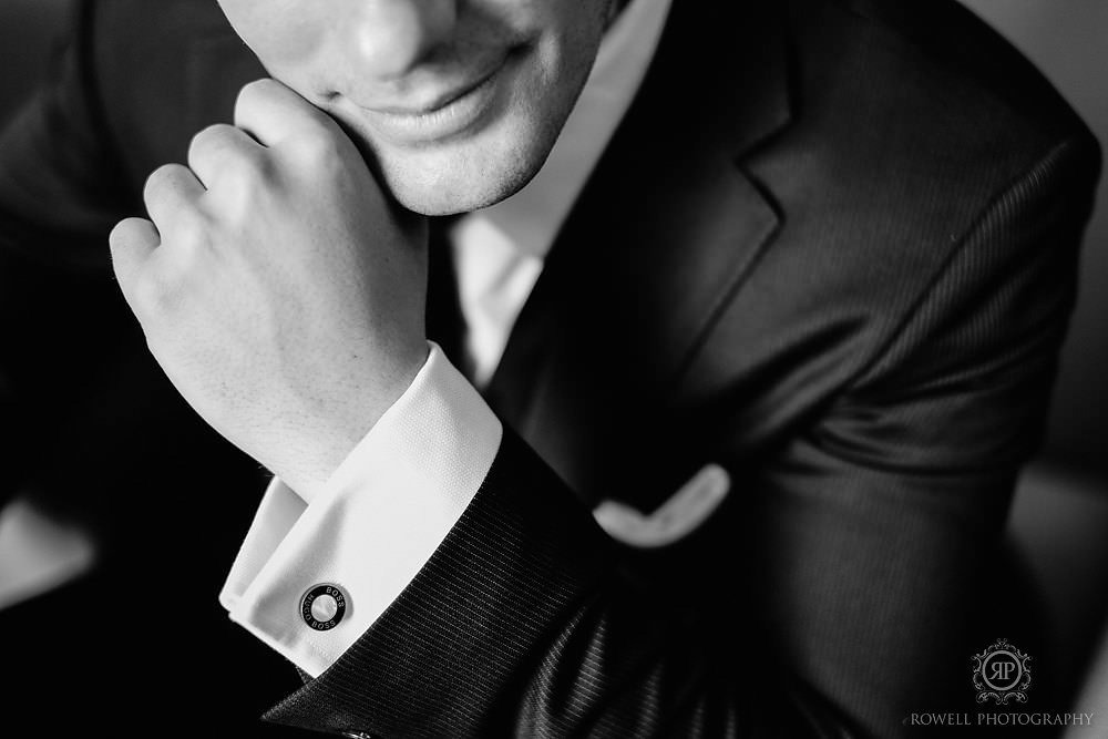 perfect groom cufflink shot
