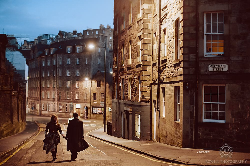 Scotland photographer captures Steampunk inspired couples photos in Scotland.