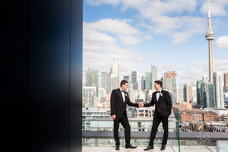 Toronto rooftop Gay wedding