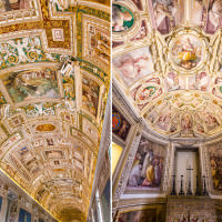 Ceilings of the Vatican Museum Italy