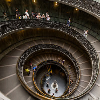 famous spiral staircase vatican museum italy