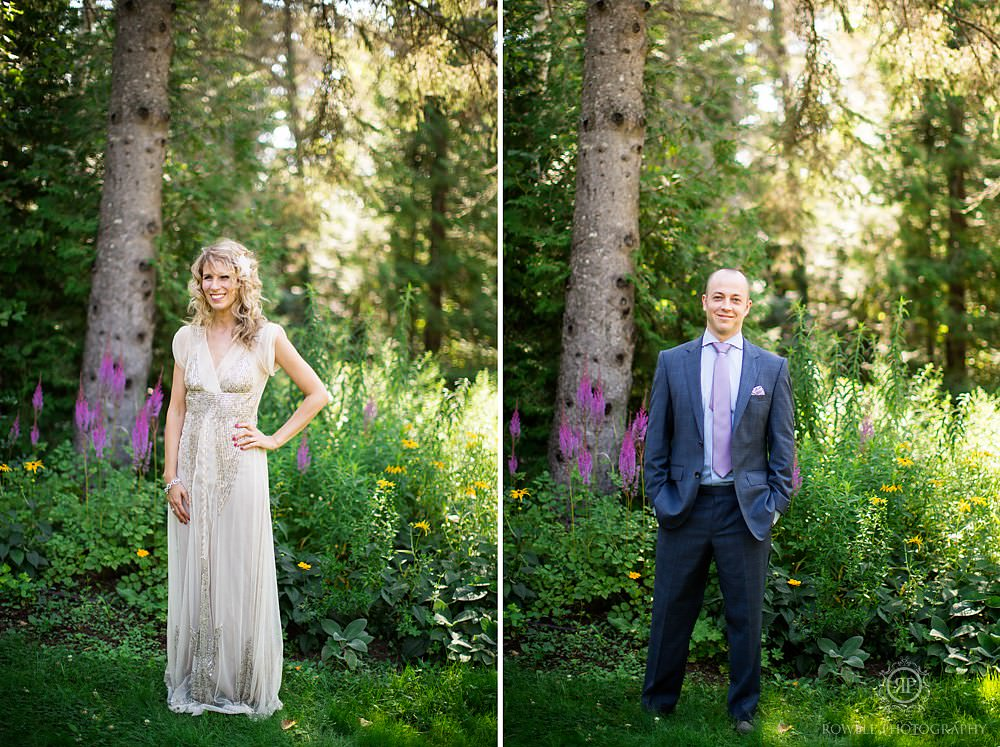 bride and groom algonquin wedding potraits Killarney Lodge Wedding   Algonquin Park Canada