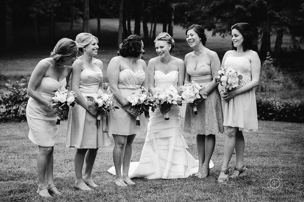 bridemaids photos by rowell photography Backyard Wedding