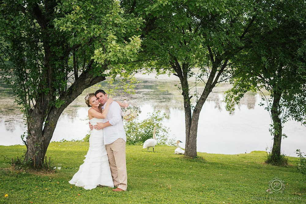 cute couples portraits backyard canadian wedding Backyard Wedding