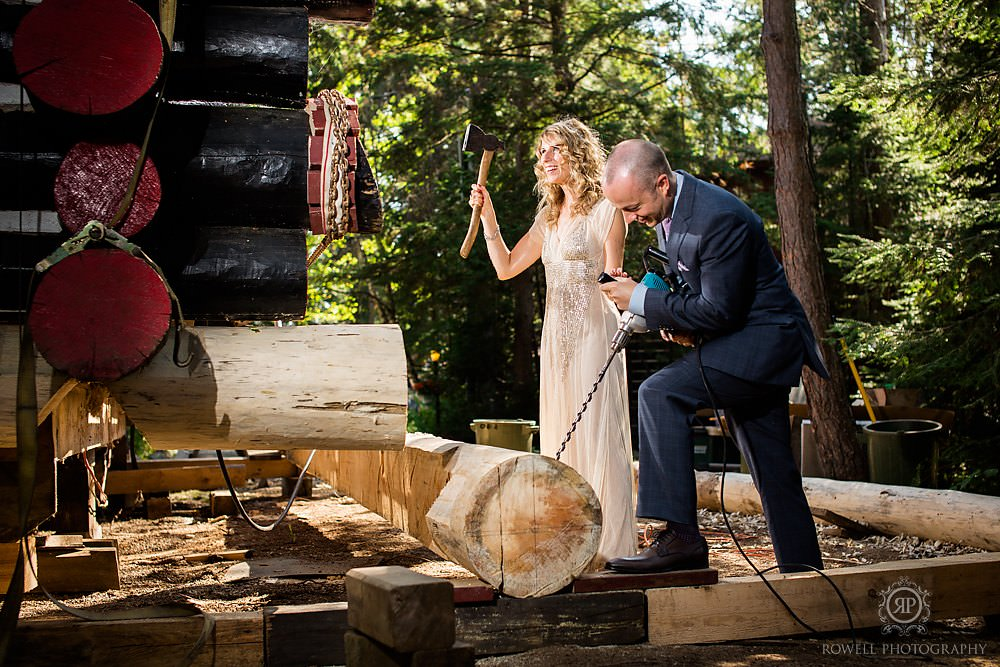 funny wedding photos at algonquin park Killarney Lodge Wedding   Algonquin Park Canada