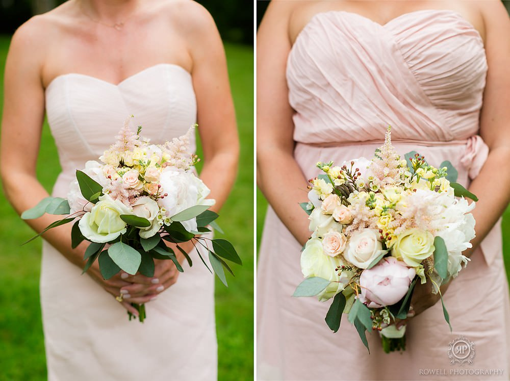 gorgeous bridesmaid bouquet Backyard Wedding