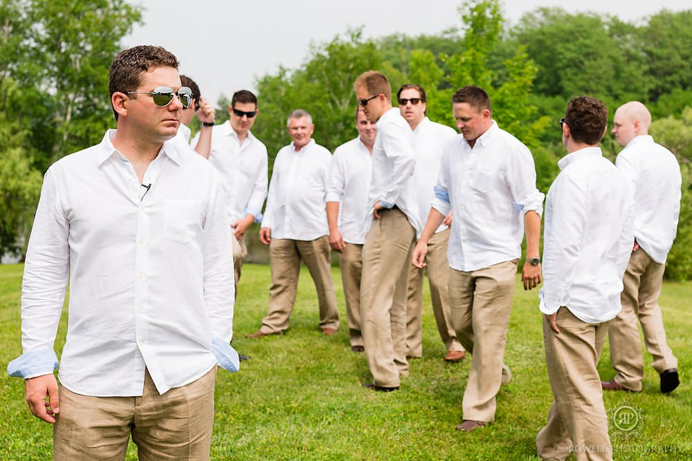 the grooms men by rowell photography Backyard Wedding
