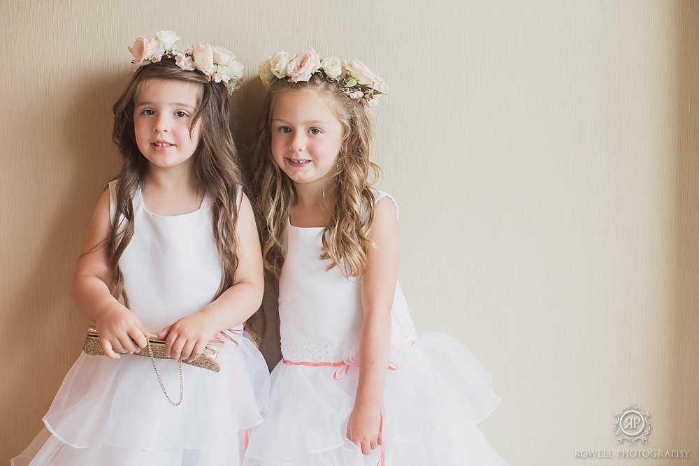 cute flower girls muskoka weddings canada Taboo Resort Wedding   Muskoka, Canada
