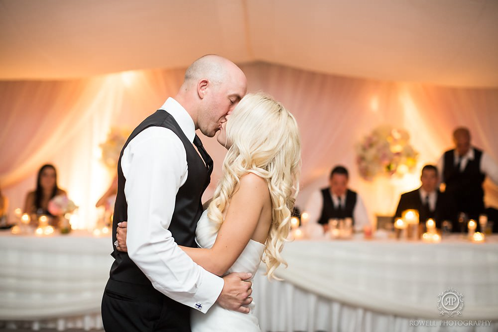 first dance tent wedding muskoka Wedding at Rocky Crest Resort
