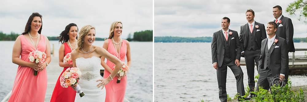fun candid muskoka wedding 1 Taboo Resort Wedding   Muskoka, Canada