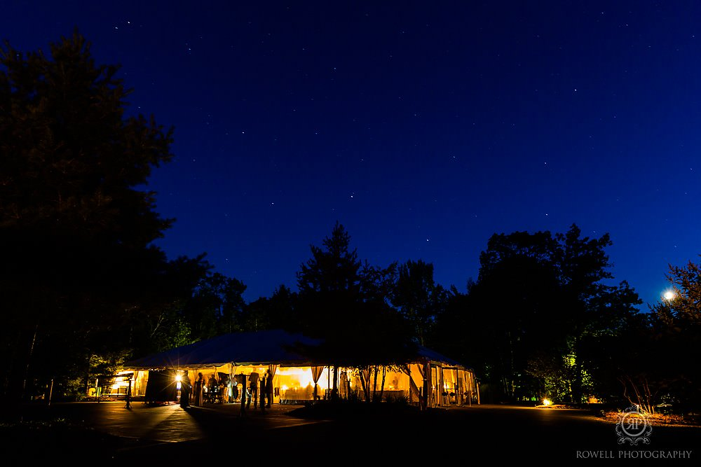 rocky crest resort uskoka tent wedding at night Wedding at Rocky Crest Resort