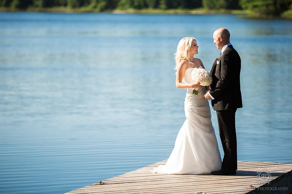 wedding portraits muskoka lake Wedding at Rocky Crest Resort