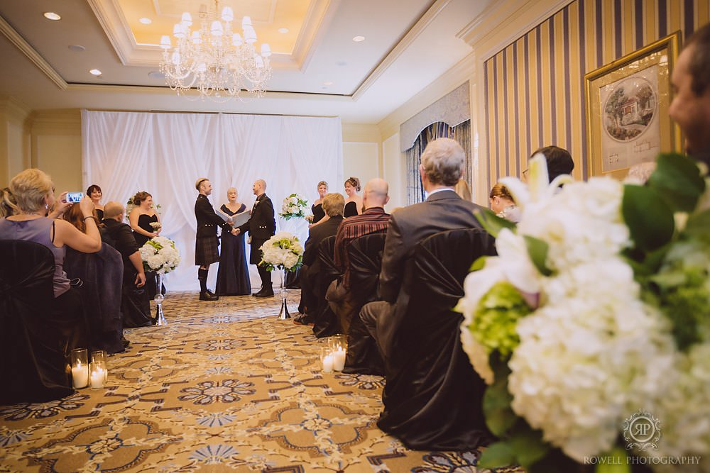 beautiful wedding ceremony at fairmont royal york