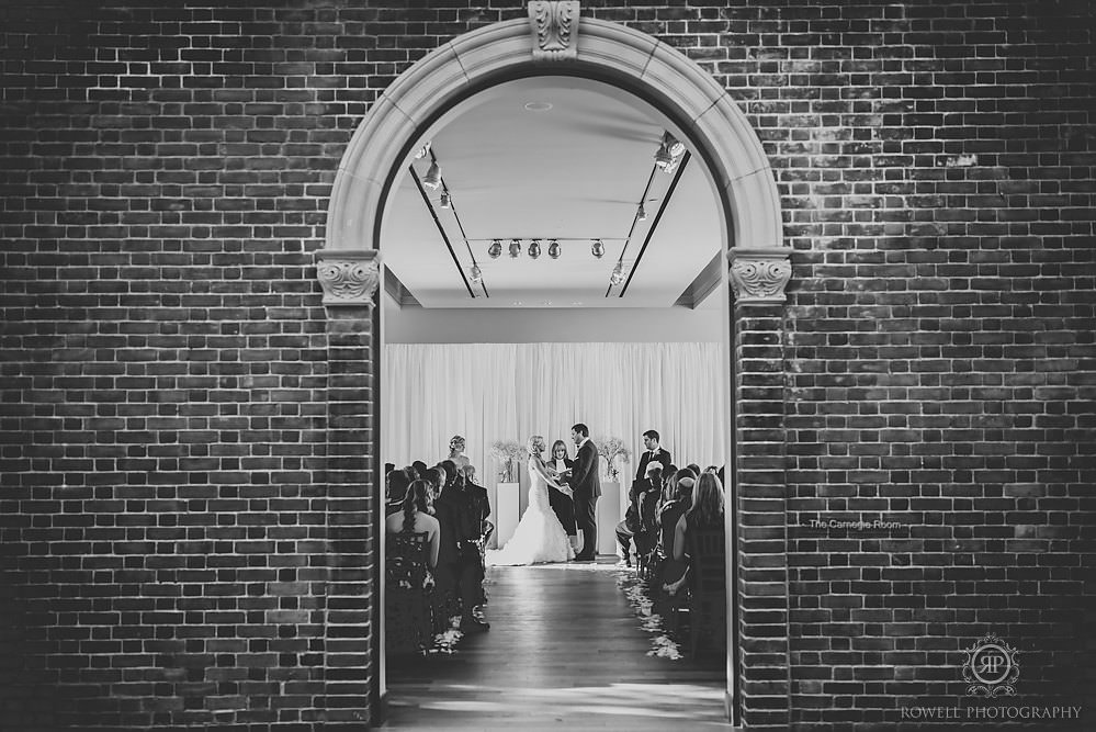 black and white wedding photography canada MacLaren Art Centre Wedding