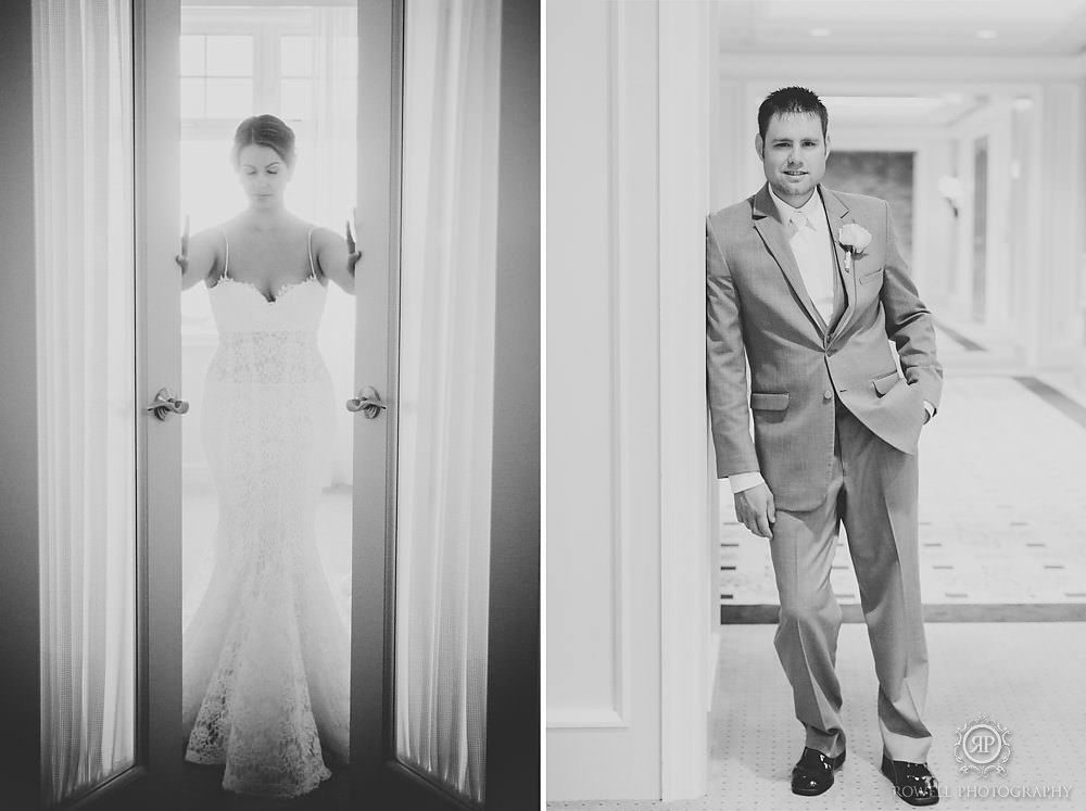 bride and groom portrits rowell photo The Rosseau Muskoka JW Marriott Resort & Spa Wedding