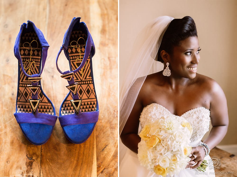 bride blue suede shoes for muskoka wedding Taboo Resort Golf & Spa   Muskoka