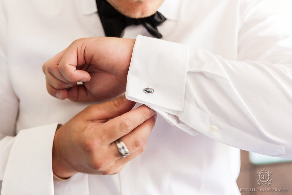 wedding cufflinks MacLaren Art Centre Wedding