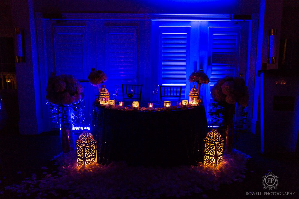 wedding reception decor at night Taboo Resort Golf & Spa   Muskoka