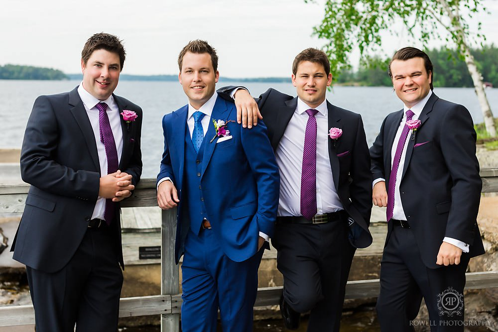 cool groomsmen photography at muskoka wedding Muskoka Wedding at Taboo Resort