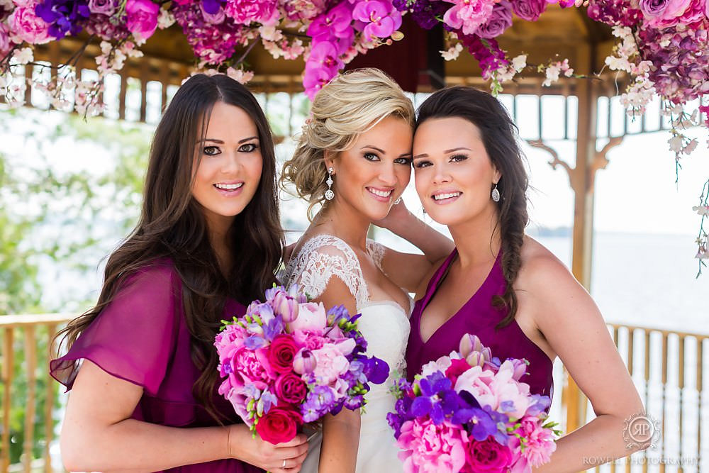 gorgeous bridesmaids at taboo resort Muskoka Wedding at Taboo Resort