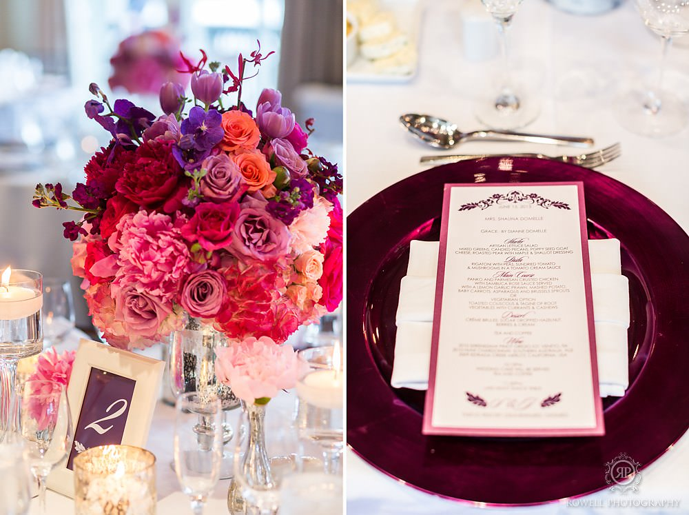 purple muskoka wedding decor Muskoka Wedding at Taboo Resort