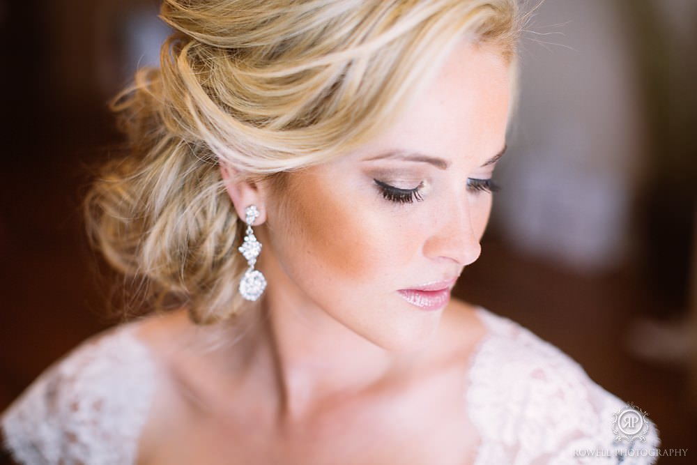 stunning bridal portraits before the wedding Muskoka Wedding at Taboo Resort