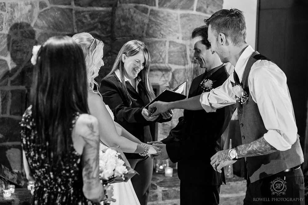 black and white candid wedding photos taboo resort Taboo Resort Muskoka   Winter Elopement