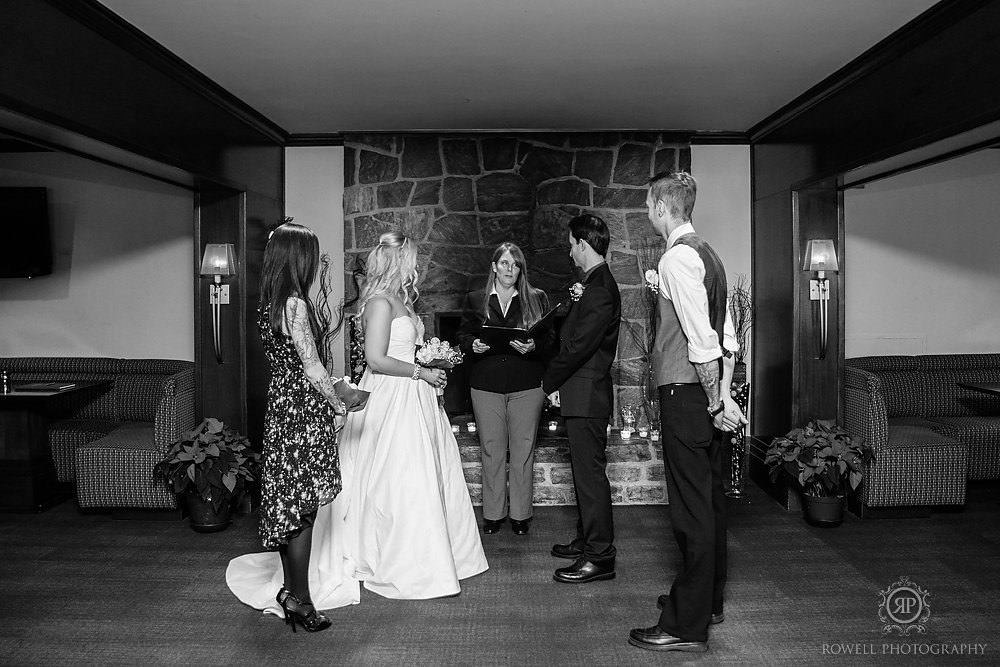 canadian elopement ceremony muskoka Taboo Resort Muskoka   Winter Elopement