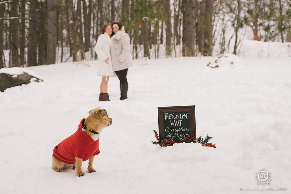 cute wedding sign Deerhurst Resort Elopement   Muskoka