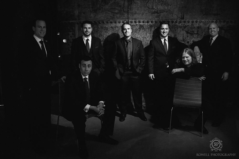 dramatic groomsmen photo arta toronto Arta & Archeo Wedding   Toronto