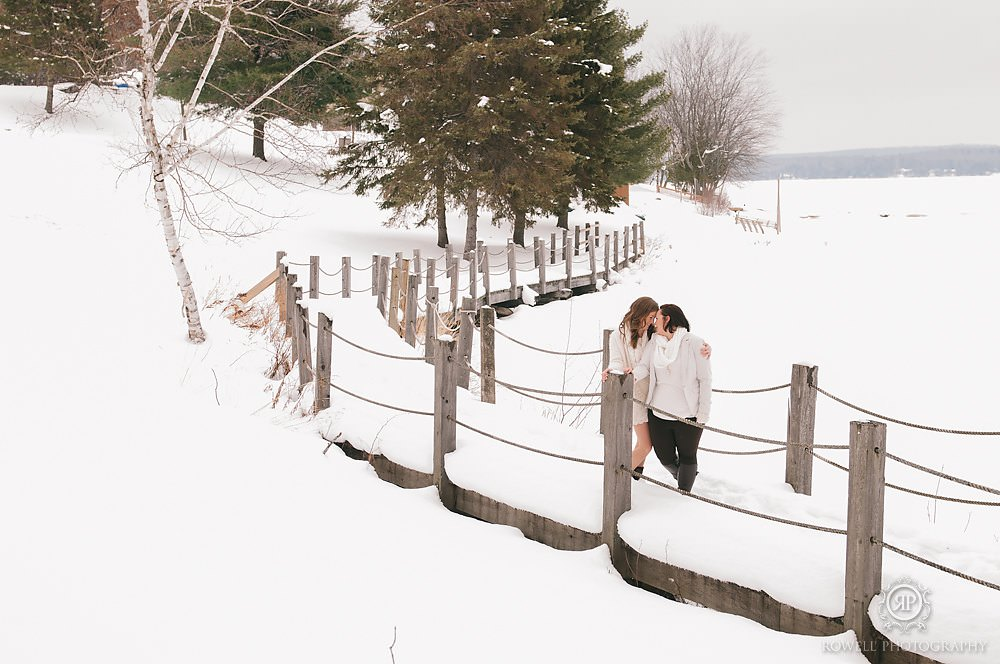 romantic winter wedding muskoka Deerhurst Resort Elopement   Muskoka