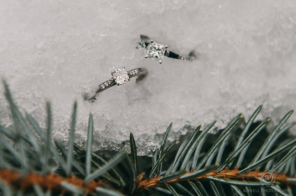 winter ring photo weddings in canada Deerhurst Resort Elopement   Muskoka