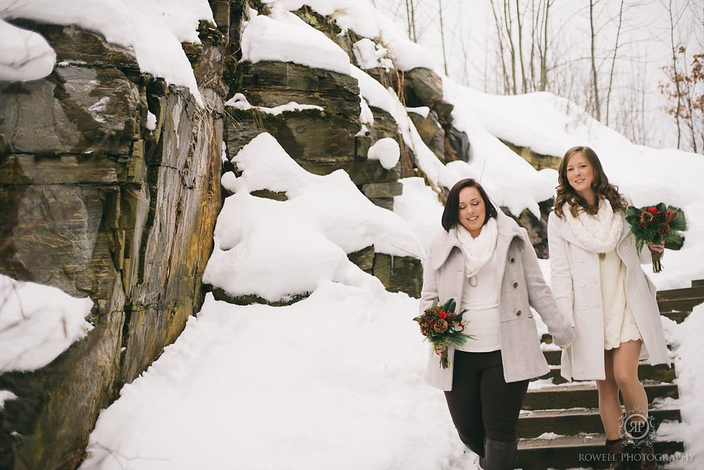 wintery wedding photos canada Deerhurst Resort Elopement   Muskoka