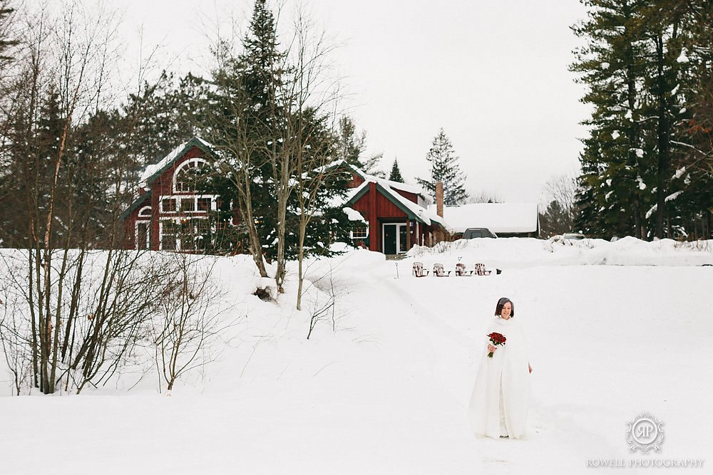 first look trillium resort wedding Trillium Resort Muskoka   Winter Wedding