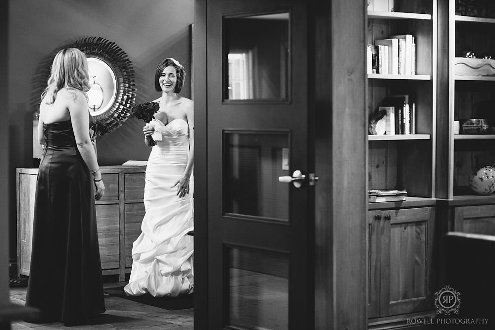 trillium resort muskoka winter wedding black white Trillium Resort Muskoka   Winter Wedding
