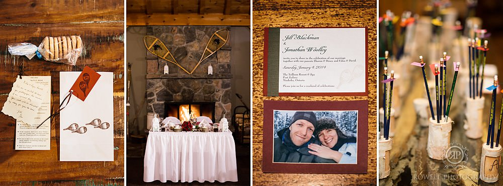 trillium resort muskoka winter wedding canadian details Trillium Resort Muskoka   Winter Wedding