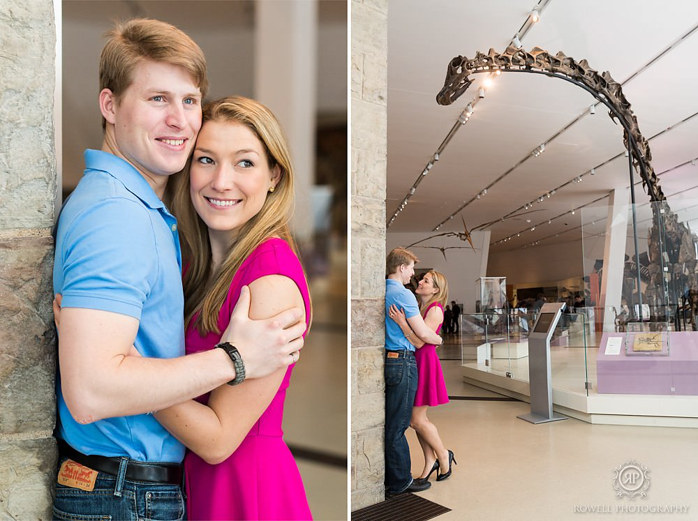 toronto engagement session at royal ontario museum