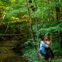 forest engagement session in Barrie ontario
