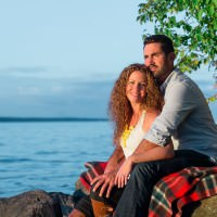 lakeshore engagement session in barrie ontario