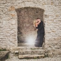 engagement session at rockwood ruins ontario