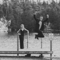funny engagement photos in canada