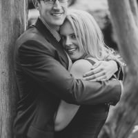 romantic black and white engagement photography