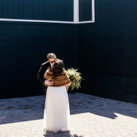 first look canadian wedding