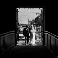 bride and father walking down aisle toronto distillery