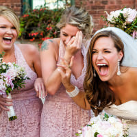 candid and fun bridal party moments toronto wedding