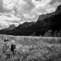 little boys in the rocky mountains canada