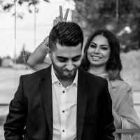 black and white funny couples photos