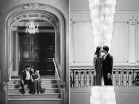 black and white quebec city engagement