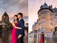 fairmont chateau frontenac engagement photos